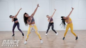 Nicole Steen and other dancers in the Popsugar 30-minute Cardio Latin Dance Video