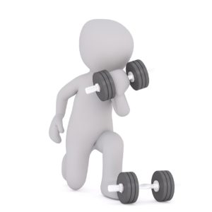 Animated Figure lifting weights
