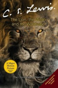 The Lion, the Witch and the Wardrobe (Chronicles of Narnia, #1) by C.S. Lewis book cover. Image on cover is of the lion Aslan.