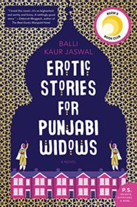 Erotic Stories for Punjabi Widows by Balli Kaur Jaswal book cover. Image on cover is of two women wearing headscarves holding up their arms to wave at each other.