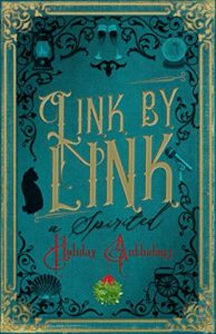 Link by Link- A Spirited Holiday Anthology by M. Dalto and others book cover. Image on cover is of abstract designs that look like they're from the nineteenth century.