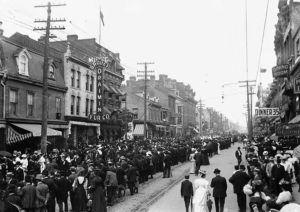 A Labour Day Parade in Toronto in the early 1900s