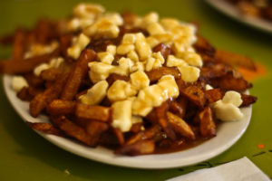 A plate filled with poutine
