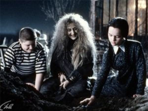 Carol Kane (centre) as Grandmama Addams