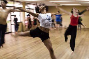 People dancing in a dance studio