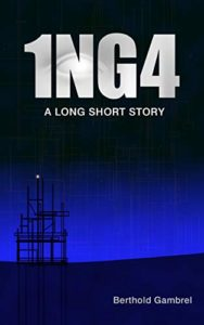 Book cover for 1NG4. Image on cover is of a metal structure that has been photographed just after dusk.