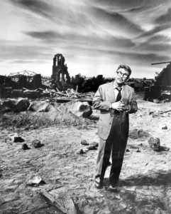 "Photo of Burgess Meredith from The Twilight Zone episode ""Time Enough at Last""."