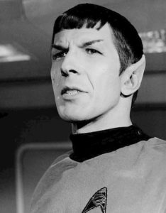 Photo of Leonard Nimoy as Mr. Spock from the television series Star Trek on May 2, 1967.