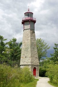 gibraltar point lighthouse on Toronto Island in Toronto, Ontario