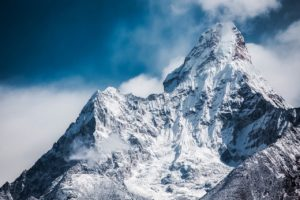 Ama Dablam in the Himalayan mountains