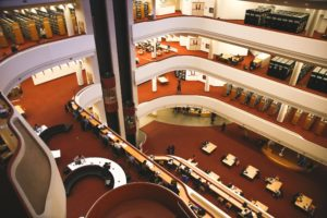 Photo of the many floors of the Toronto Reference Library