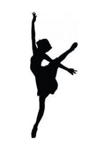 During the Dance by Mark Lawrence book cover. Image on cover is a silhoutee of a ballet dancer with two arms and one leg up in the air.